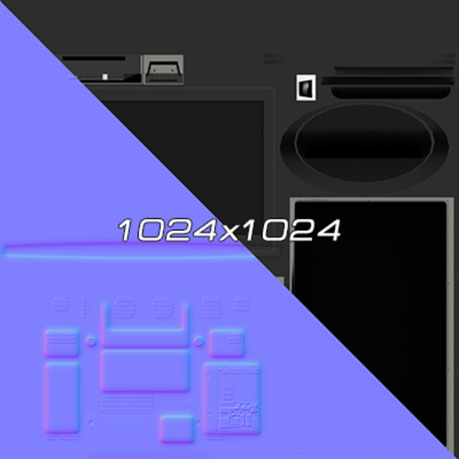 TV-apparat svart royalty-free 3d model - Preview no. 7