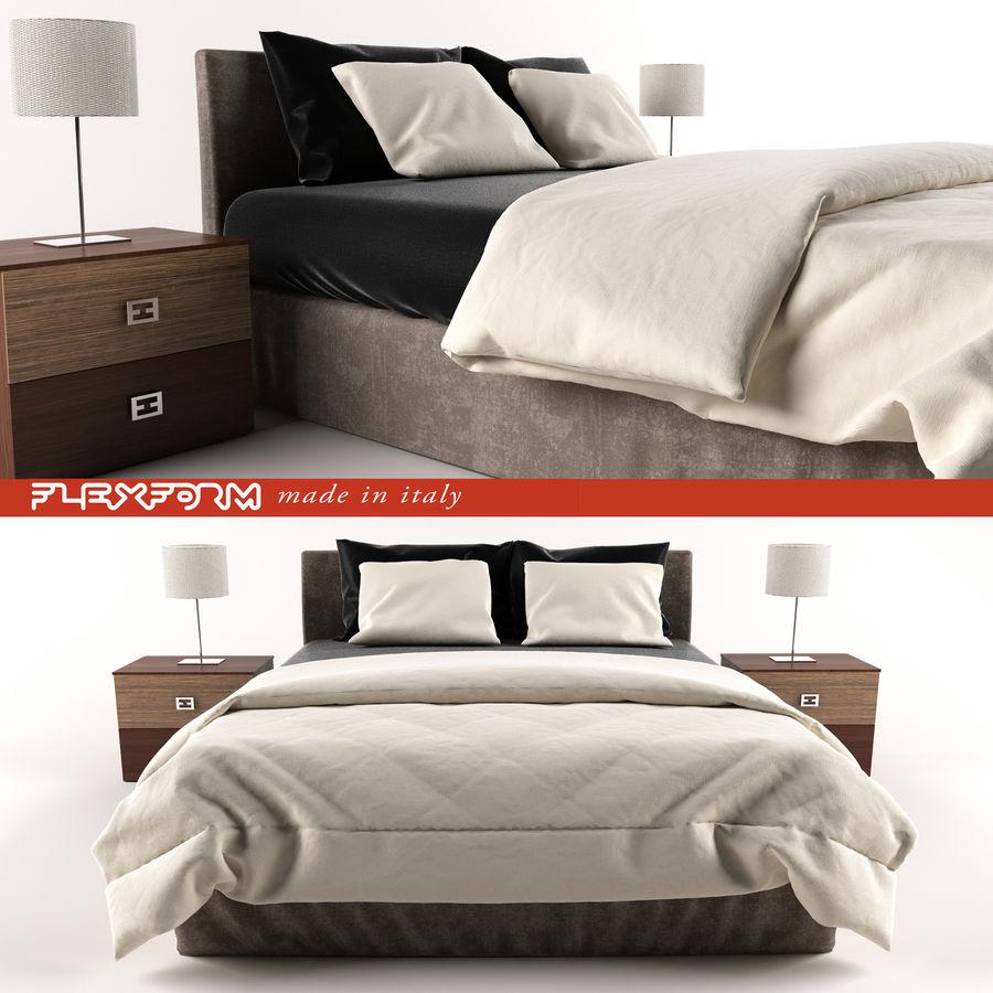 Łóżko royalty-free 3d model - Preview no. 3