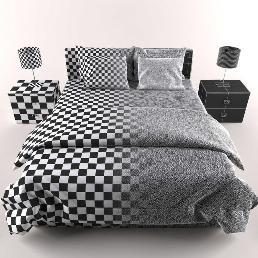 Łóżko royalty-free 3d model - Preview no. 5