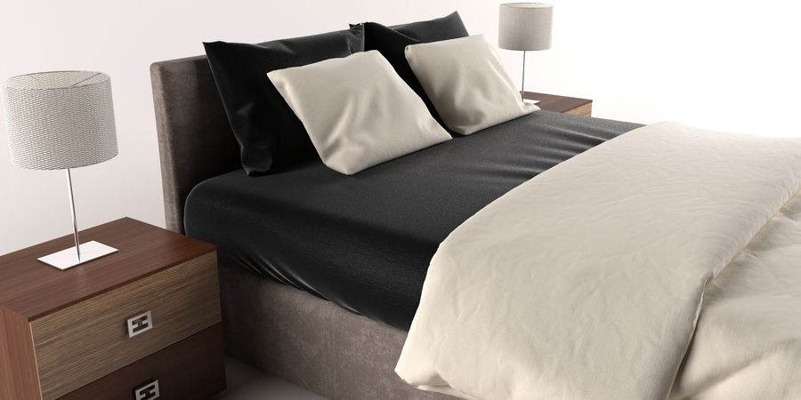 Łóżko royalty-free 3d model - Preview no. 1
