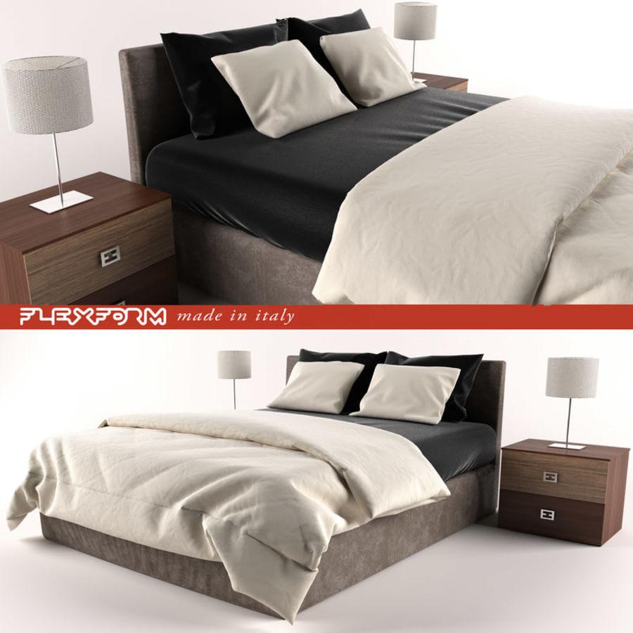 Łóżko royalty-free 3d model - Preview no. 2