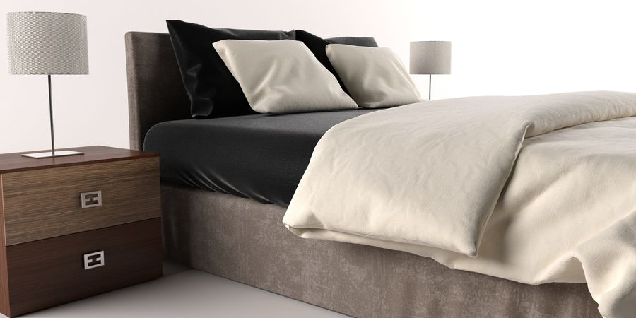 Łóżko royalty-free 3d model - Preview no. 4
