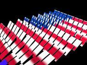 アメリカの国旗のドミノ 3d model