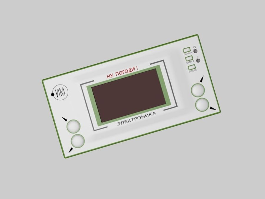 Russisches elektronisches Spiel royalty-free 3d model - Preview no. 1
