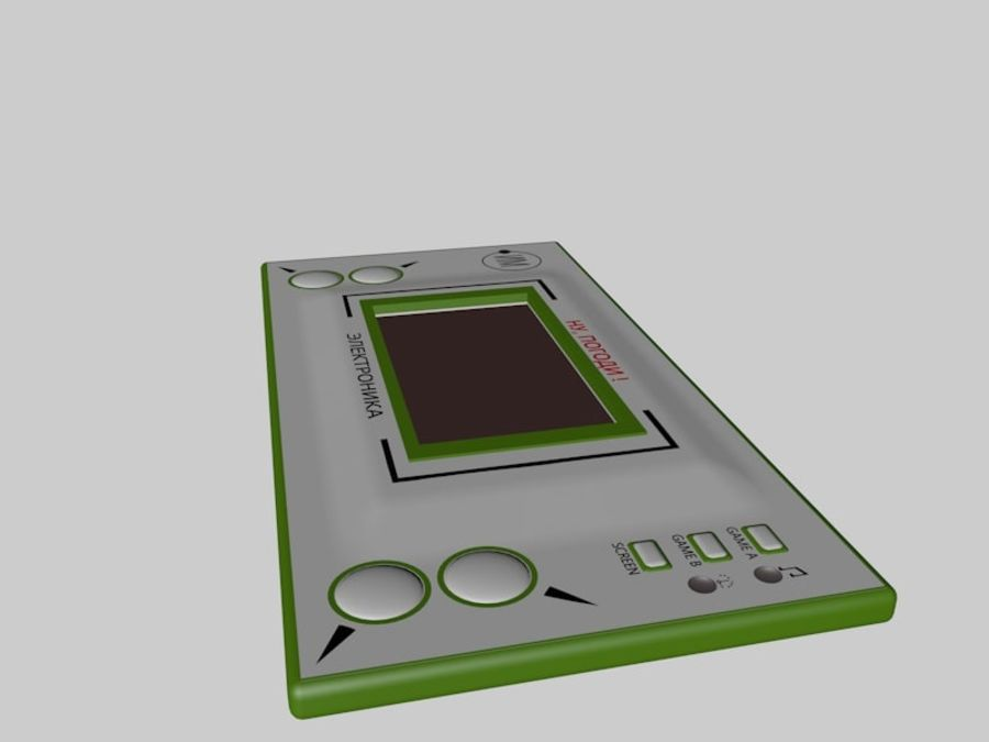 Russian electronic game royalty-free 3d model - Preview no. 3