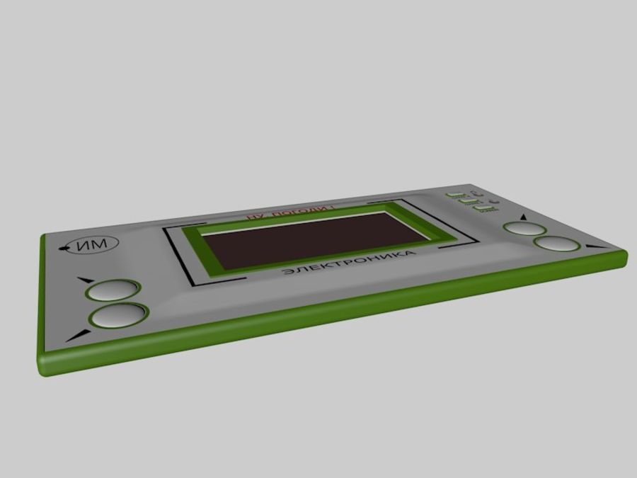 Russian electronic game royalty-free 3d model - Preview no. 2