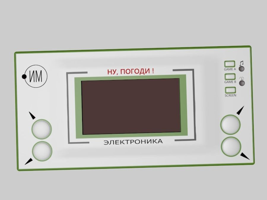 Russisches elektronisches Spiel royalty-free 3d model - Preview no. 4