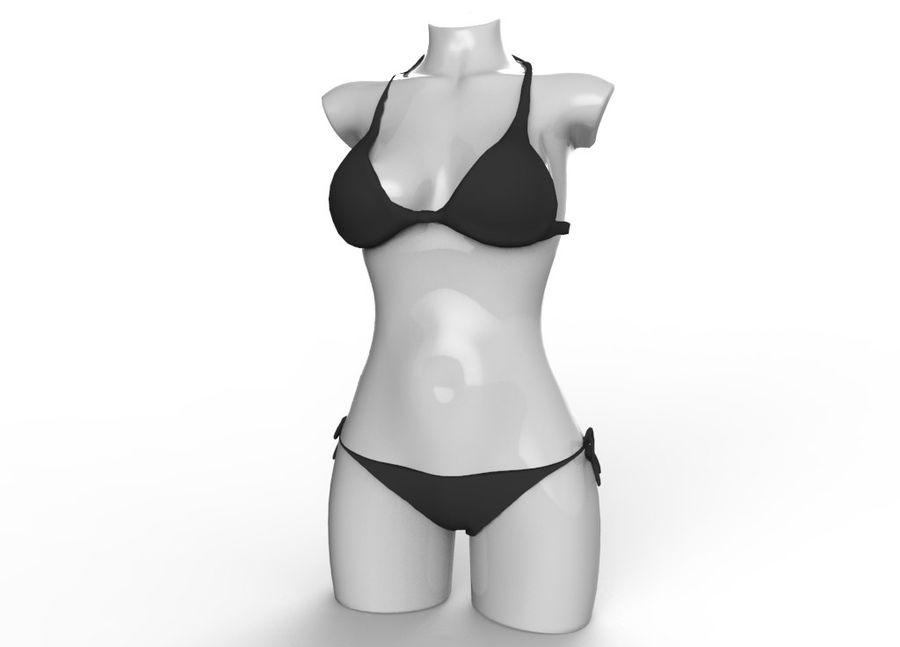 Сексуальное черное бикини royalty-free 3d model - Preview no. 2