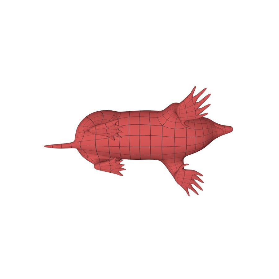 Mole base mesh royalty-free 3d model - Preview no. 6