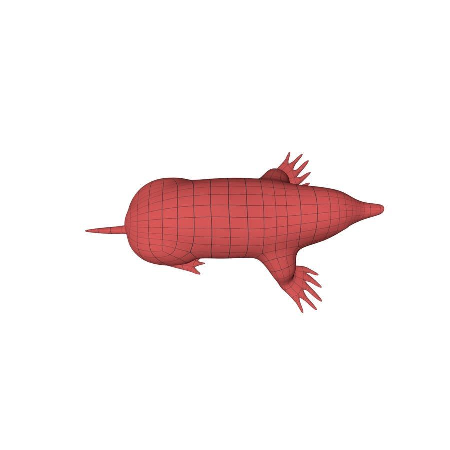 Mole base mesh royalty-free 3d model - Preview no. 5