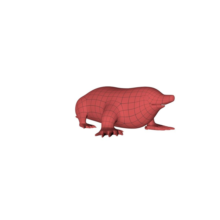 Mole base mesh royalty-free 3d model - Preview no. 3
