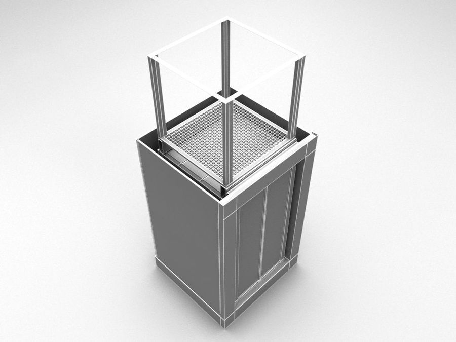 elevator royalty-free 3d model - Preview no. 6