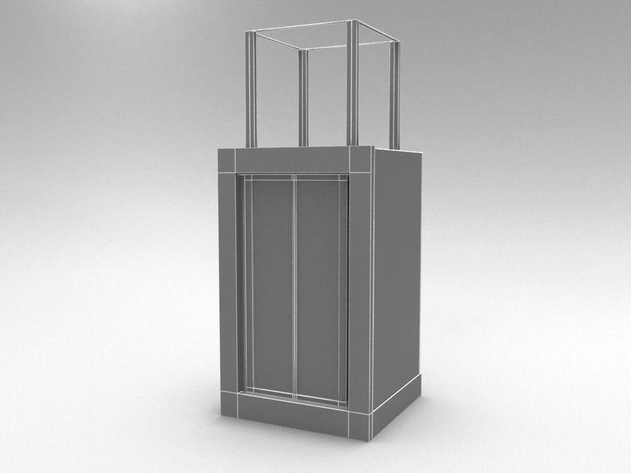 asansör royalty-free 3d model - Preview no. 4