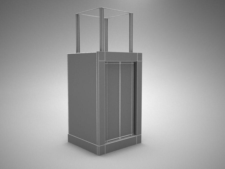 asansör royalty-free 3d model - Preview no. 2