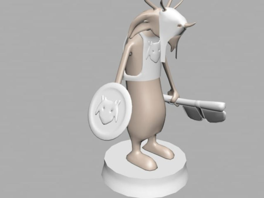 Seor the warrior royalty-free 3d model - Preview no. 1