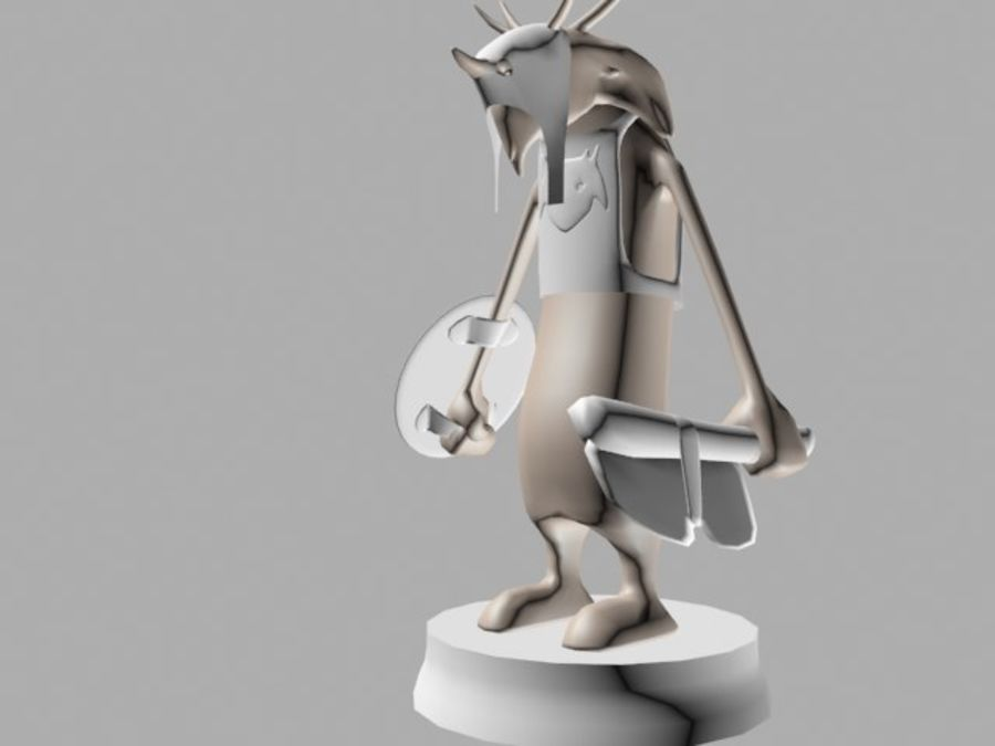 Seor the warrior royalty-free 3d model - Preview no. 4
