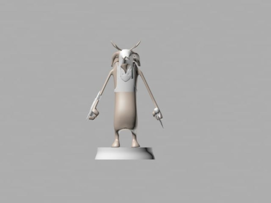 Seor the warrior royalty-free 3d model - Preview no. 3