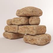 Stenen blok 3d model