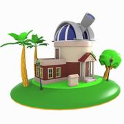 Cartoon Observatory 3d model