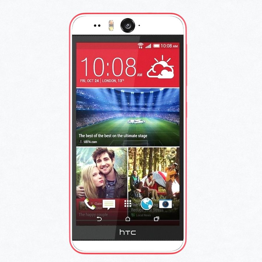 HTC Desire 2 royalty-free 3d model - Preview no. 3
