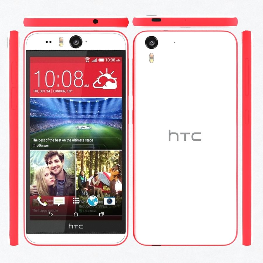 HTC Desire 2 royalty-free 3d model - Preview no. 2