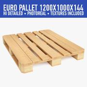 Wood Pallet (3) 3d model