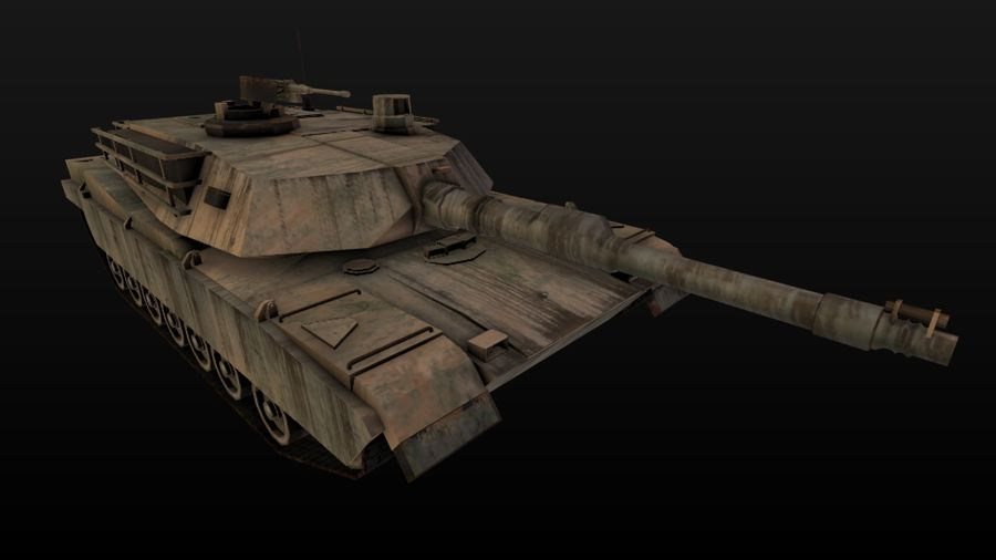 Apocaliptic 포스트 M1A2 ABRAMS royalty-free 3d model - Preview no. 2