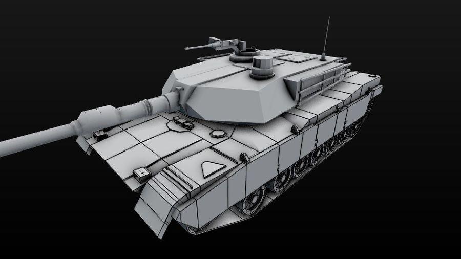 M1A2 ABRAMS постапокалиптический royalty-free 3d model - Preview no. 11