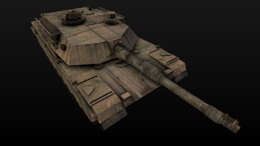 Apocaliptic 포스트 M1A2 ABRAMS royalty-free 3d model - Preview no. 4