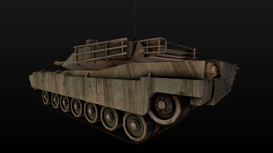 M1A2 ABRAMS постапокалиптический royalty-free 3d model - Preview no. 6