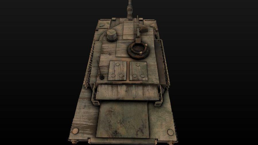 M1A2 ABRAMS постапокалиптический royalty-free 3d model - Preview no. 8