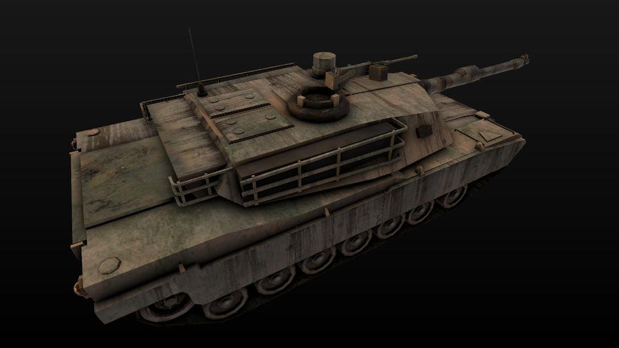 M1A2 ABRAMS постапокалиптический royalty-free 3d model - Preview no. 3