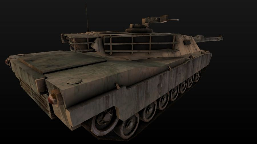 M1A2 ABRAMS постапокалиптический royalty-free 3d model - Preview no. 5