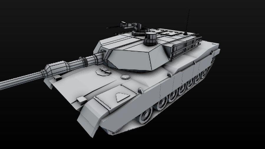 M1A2 ABRAMS постапокалиптический royalty-free 3d model - Preview no. 10