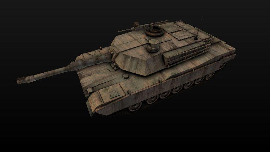 M1A2 ABRAMS постапокалиптический royalty-free 3d model - Preview no. 9