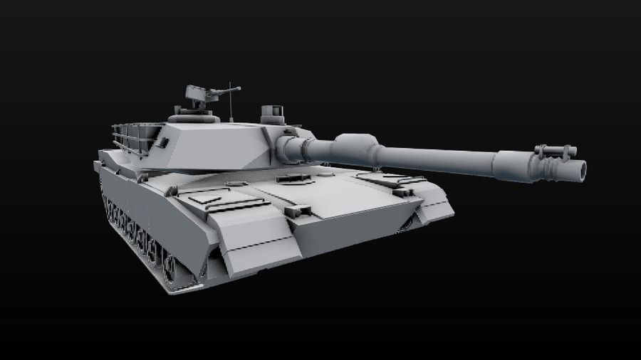M1A2 ABRAMS постапокалиптический royalty-free 3d model - Preview no. 12