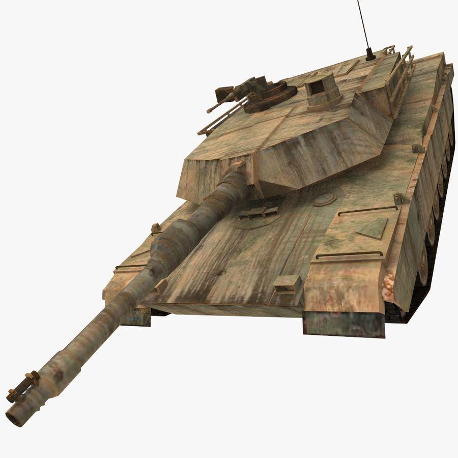 M1A2 ABRAMS постапокалиптический royalty-free 3d model - Preview no. 1