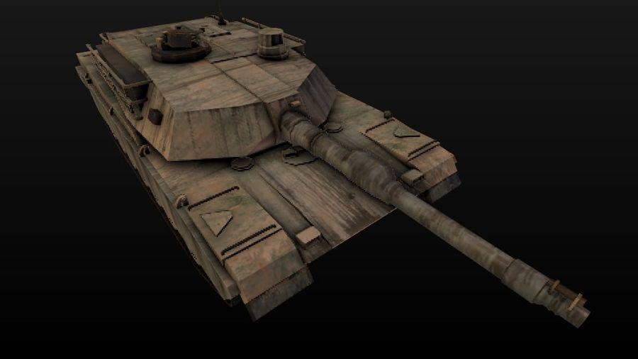 M1A2 ABRAMS постапокалиптический royalty-free 3d model - Preview no. 4
