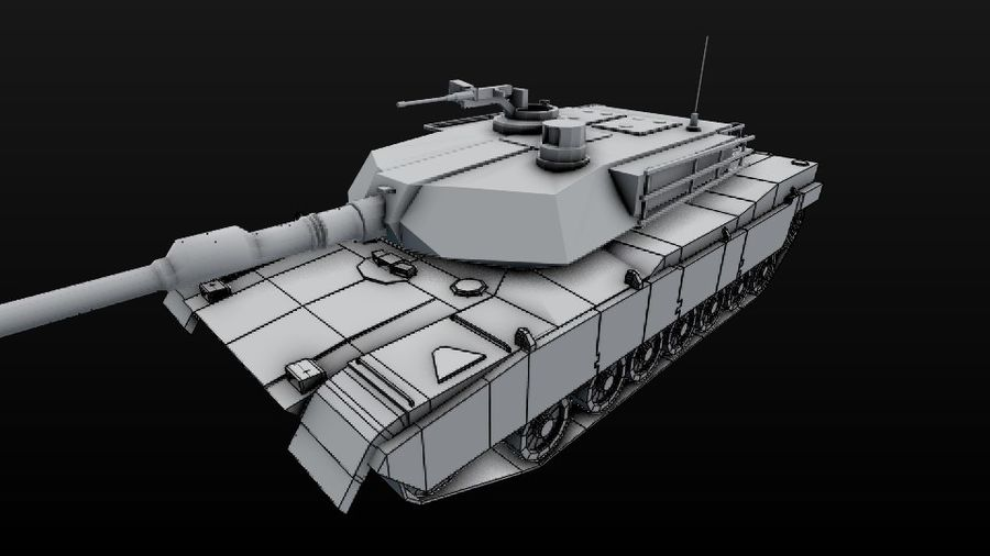 Apocaliptic 포스트 M1A2 ABRAMS royalty-free 3d model - Preview no. 11