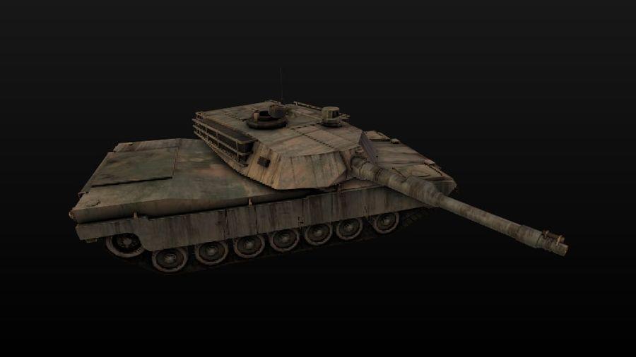 M1A2 ABRAMS постапокалиптический royalty-free 3d model - Preview no. 7