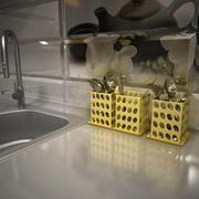 Bestekdroger 2 met accessoires 3d model