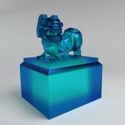 leão de jade V1 3d model