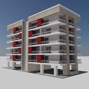 Modern Apartment City Building - HD Cityscape Tile 3 3d model