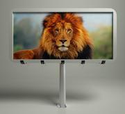 广告牌回合 3d model