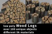 みじん切り木材の低ポリ 3d model