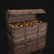Stara skrzynia skarbów 3d model