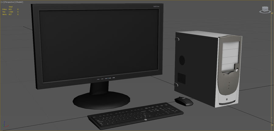 Computer royalty-free 3d model - Preview no. 2