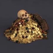 Montón de tesoros modelo 3d