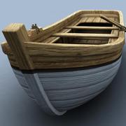 Hölzernes Boot 3d model