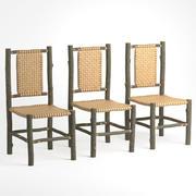 krzesła drewniane 3d model